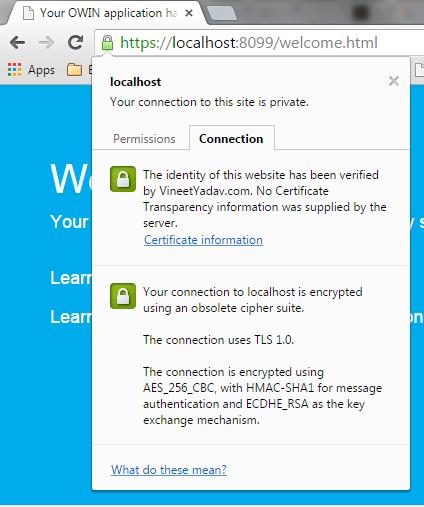 Self Hosted WebApi Running over SSL